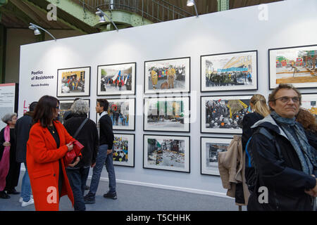 Paris, France. 3th April, 2019 Poetics of Resistance of  Marcelo Brodsky exibited at Paris Art Fair. Credit: Veronique Phitoussi/Alamy Stock Photo - Stock Photo
