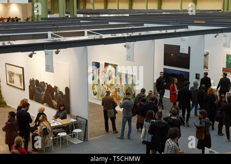 Paris, France. 3th April, 2019.  Artwork exibited at Paris Art Fair, Paris, 2019, France. Credit: Veronique Phitoussi/Alamy Stock Photo - Stock Photo
