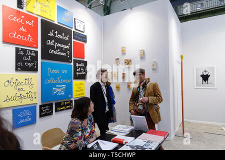 Paris, France. 3th April, 2019. Ben exibited at Paris Art Fair, Paris, 2019, France. Credit: Veronique Phitoussi/Alamy Stock Photo - Stock Photo