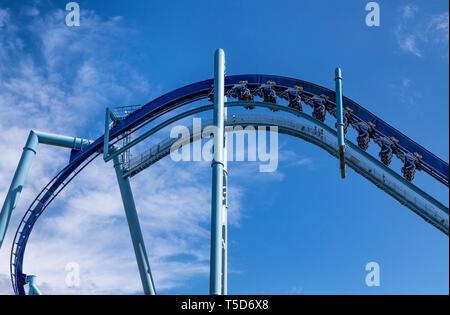 Manta roller coaster, SeaWorld, Orlando, Florida, USA. - Stock Photo