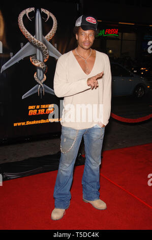 LOS ANGELES, CA. August 18, 2006: Actor GARY DOURDAN at the Los Angeles premiere of 'Snakes on a Plane' at the Chinese Theatre, Hollywood. © 2006 Paul Smith / Featureflash - Stock Photo