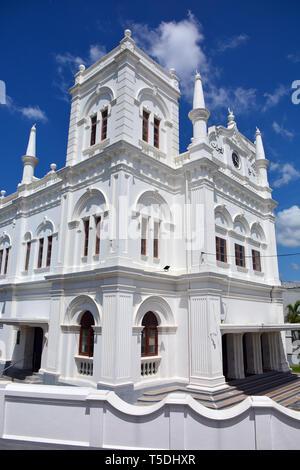 Meeran Jumma Masjid Mosque in the fortress, Galle, Sri Lanka. Meeran Jumma Masjid mecset az erődben Galléban. - Stock Photo
