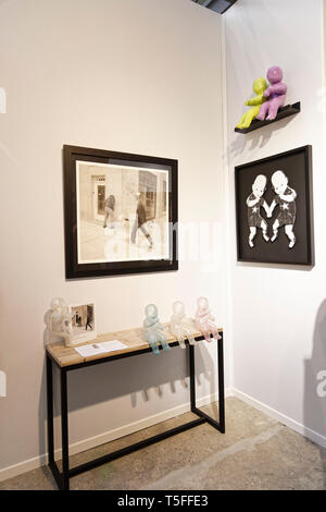 Paris, France. 3th April, 2019.Mark Jenkins exibited at  Paris Art Fair, Paris, 2019, France. Credit: Veronique Phitoussi/Alamy Stock Photo - Stock Photo