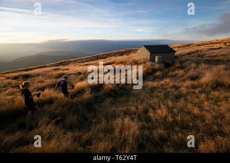 Picture by Tim Cuff - 23/24 March 2018 - Tramping on Mount Roberts, Nelson, New Zealand - Stock Photo