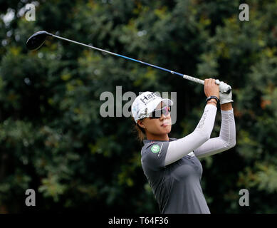 Los Angeles, USA. 28th Apr, 2019. Minjee Lee of Australia competes during the final round of the LA Open LPGA golf tournament in Los Angeles, the United States, on April 28, 2019. Lee won the title of the tournament. Credit: Zhao Hanrong/Xinhua/Alamy Live News - Stock Photo