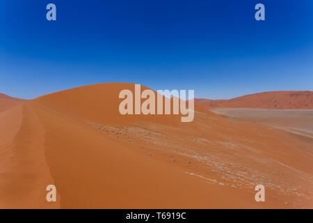 Dune 45 in sossusvlei Namibia - Stock Photo