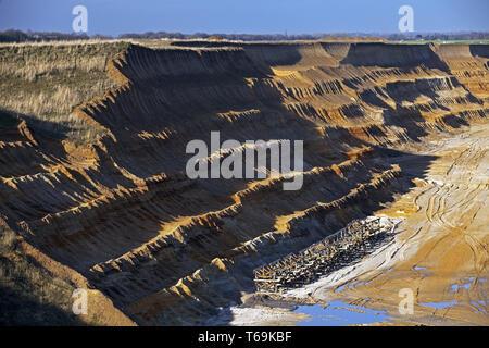 Garzweiler II brown coal surface mining, Garzweiler, North Rhine-Westphalia, Germany, Europe - Stock Photo