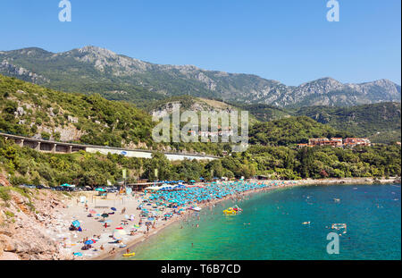 One of the smaller beaches near Budva. Montenegro - Stock Photo