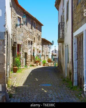 Famous Portugal village street. Monsanto - Stock Photo