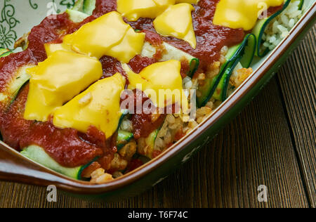 Zucchini Enchiladas - Stock Photo