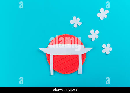 paper art of japanese gate. japan concept - Stock Photo