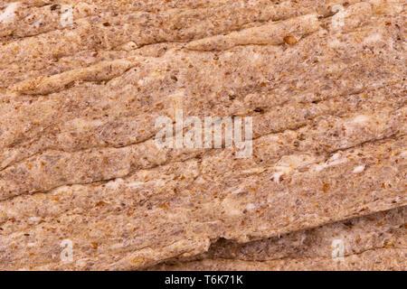 Abstract texture unleavened bread matzo macro shot background at close range. - Stock Photo