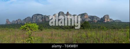 Black stones of Pungo Andongo - Malanje, Angola - Stock Photo
