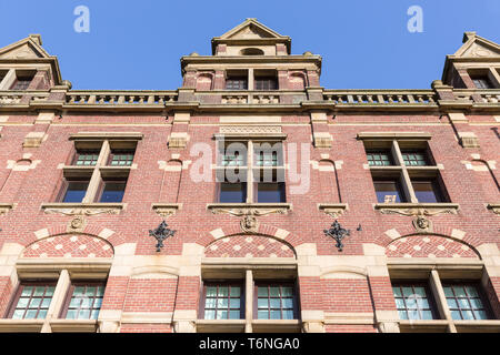Facade old Dutch brick stone manion of the Hague - Stock Photo