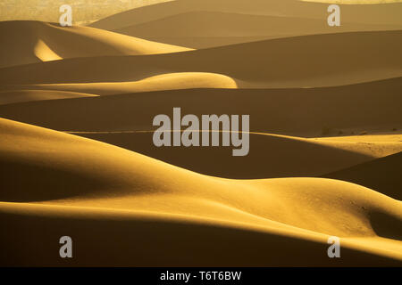Background with of sandy dunes in desert - Stock Photo