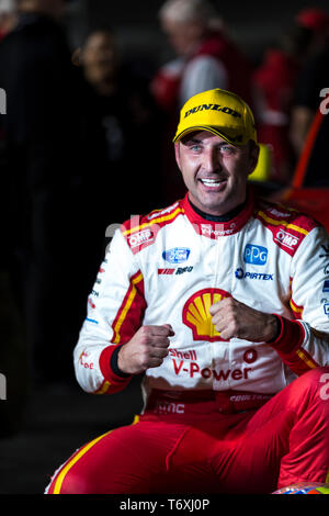 Barbagallo Raceway, Neerabup, Australia. 3rd May, 2019. Virgin Australia Supercars Championship, PIRTEK Perth SuperNight, day 2; Fabian Coulthard wins Race 11 Credit: Action Plus Sports/Alamy Live News - Stock Photo