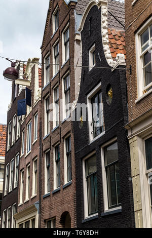 Entrance to a house in Amsterdam - Stock Photo
