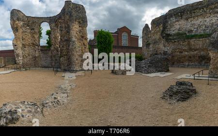 Abbey Ruins, Reading Berkshire United Kingdom - Stock Photo