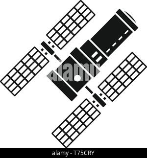 Space station icon. Simple illustration of space station vector icon for web design isolated on white background - Stock Photo
