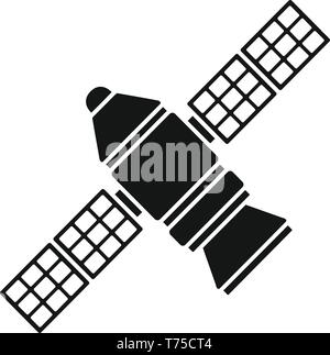 Astronomy space station icon. Simple illustration of astronomy space station vector icon for web design isolated on white background - Stock Photo