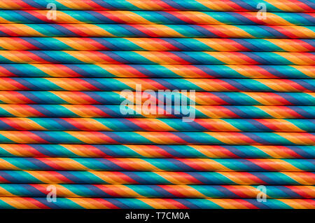 Vintage colored paper straws abstract background - Stock Photo