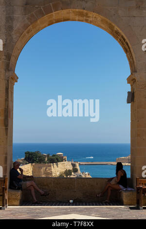 Malta, Malta, Valletta, Upper Barraka Gardens - Stock Photo