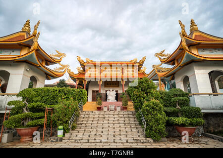 Buu Son Buddhist Temple near the Poshanu or Po Sahu Inu Cham Tower in Phan Thiet city in Vietnam. - Stock Photo