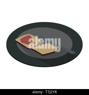 Plate food icon vector white dish illustration dining meal isolated flat symbol restaurant - Stock Photo