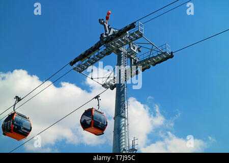 Mi Teleferico or My Cable Car, the highest cable car system in the world, La Paz, Bolivia - Stock Photo