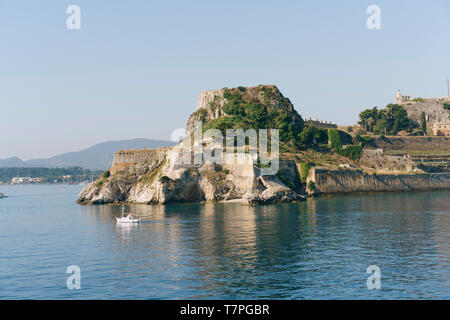 The old fortress of Corfu, built by the Venetians in the early 15th century. - Stock Photo