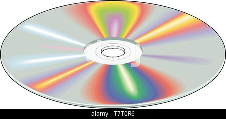Compact Disc Vector Illustration - Stock Photo