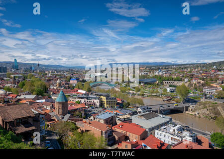 The cityscape of Tbilisi in Georgia - Stock Photo