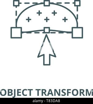 Object transform vector line icon, linear concept, outline sign, symbol - Stock Photo