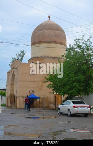 Samarkand in Usbekistan, UNESCO Weltkulturerbe an der Seidenstraße: das Mausoleum Oq Saray - Stock Photo