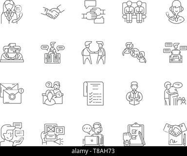Etiquette line icons, signs, vector set, outline illustration concept  - Stock Photo