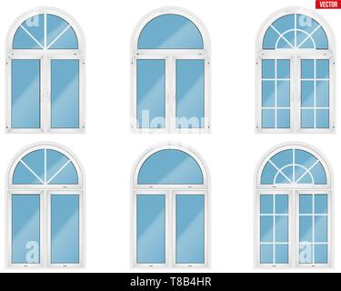 Set of PVC windows - Stock Photo