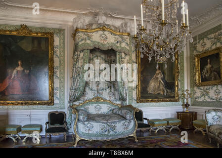 France. Versailles. 6 august 2017. bedroom interior in the Palace of Versailles. - Stock Photo