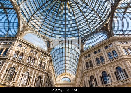 Galleria Umberto I, Naples, Italy - Stock Photo