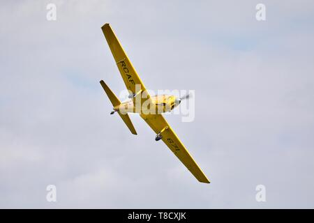 1952 DHC Chipmunk T.22 performing at Shuttleworth season premiere on the 5th May 2019 - Stock Photo