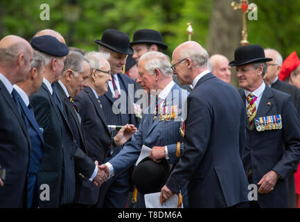 Hyde Park London, UK. 12th May 2019. HRH The Prince of Wales attends the Combined Cavalry Old Comrades Association Annual Parade and Service. - Stock Photo