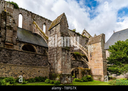 Paimpol, France - July 28, 2018: The Abbey of Beauport, Cotes-d'Armor, Brittany, France. Old Abbaye Maritime de Beauport - Stock Photo