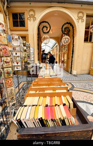 France, Paris, Galerie Vivienne, Francois Jousseaume's Librairie Ancienne bookstore - Stock Photo