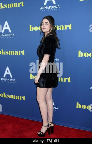 Los Angeles, CA, USA. 13th May, 2019. LOS ANGELES - MAY 13: Molly Gordon at the 'Booksmart' Premiere at The Theatre at Ace Hotel on May 13, 2019 in Los Angeles, CA at arrivals for BOOKSMART Screening, Ace Hotel, Los Angeles, CA May 13, 2019. Credit: Priscilla Grant/Everett Collection/Alamy Live News - Stock Photo