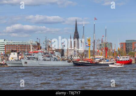 Hafengeburtstag 2019, Elbe,  Harbour , Hamburg, Germany , Europe - Stock Photo
