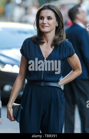 Madrid, Spain. 14th May, 2019. Queen Letizia of Spain attends the Final of the scientific monologue contest 'FameLab Spain 2019' at Gran Maestre Theatre on May 14, 2019 in Madrid, Spain. Credit: Jimmy Olsen/Media Punch ***No Spain***/Alamy Live News - Stock Photo