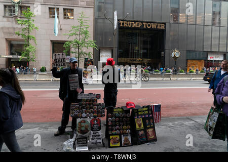 NEW YORK - USA - MAY 5 2019 - Demonstration against president Donald Trump outside Trump Tower - Stock Photo