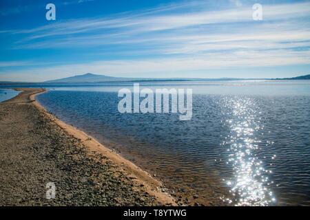 Santillana reservoir. Manzanares El Real, Madrid province, Spain. - Stock Photo