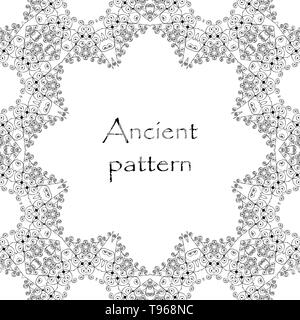 Frame with monograms for design and decorate. - Stock Photo