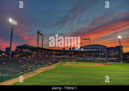 Baseball Grounds Sunset - Stock Photo