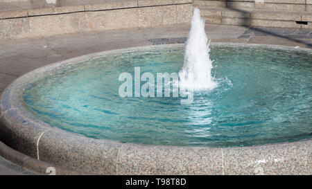 Small fountain in the city center of Zagreb, Croatia - Stock Photo